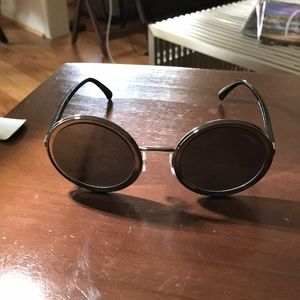 - Authentic Chanel sl/black mounded sunglasses